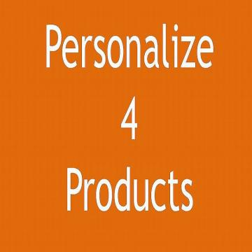 4 item Personalization Add-On