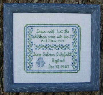 Infant Baptism Sampler Pattern