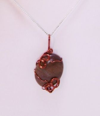 Wire-Wrapped Marble Stone Pendant