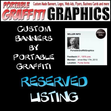 Shop Banner and Web Ad - RESERVED LISTING