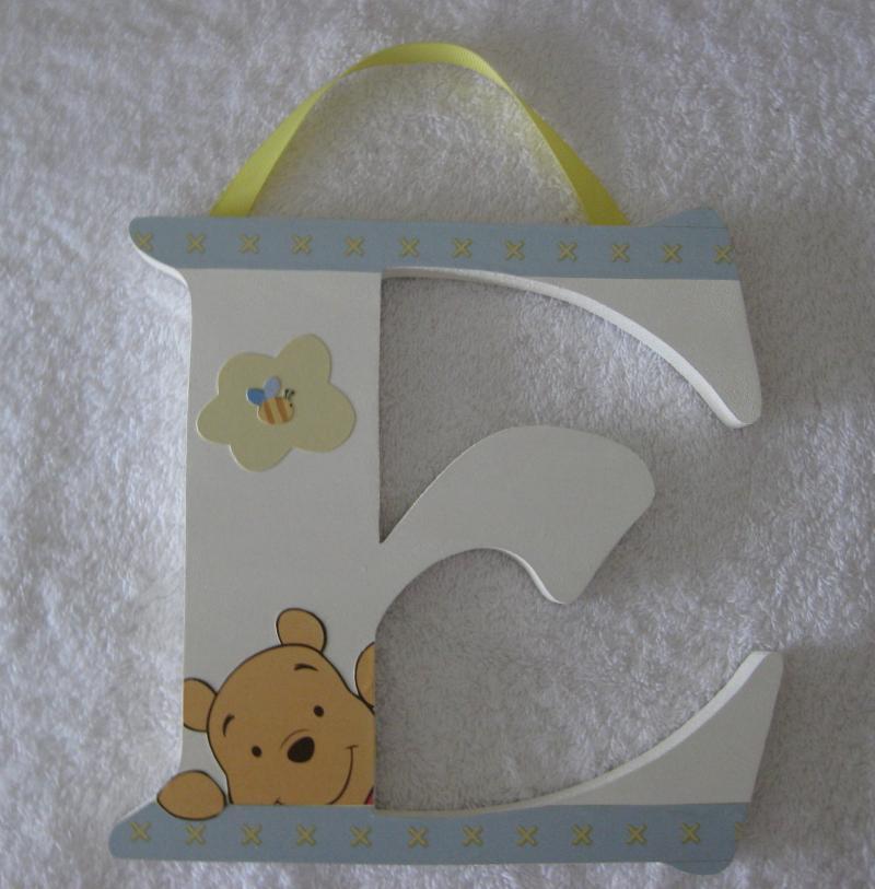 Winnie The Pooh Soft Fuzzy Wall Letters Nursery Decor Wood
