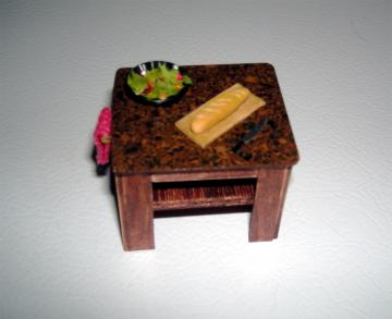 Kitchen Island in Dollhouse Half Scale