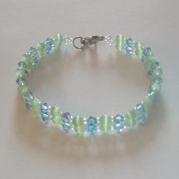 Swarovski and Cats Eye Bracelet