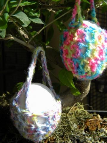 Multi Colored Easter Egg Cozy Baskets - Set of 3