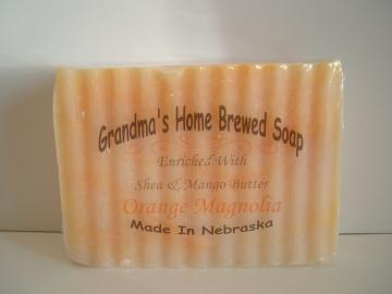 Orange Magnolia Shea and Mango Butter Soap Bar, Large 5 oz. Bar