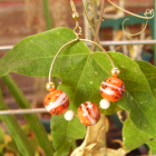 PENNY CANDY- hoop earrings with Orange glass beads