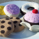 felt food sweet treats- duoghnut, cookies, cupcake