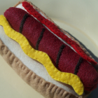 felt food hot dog