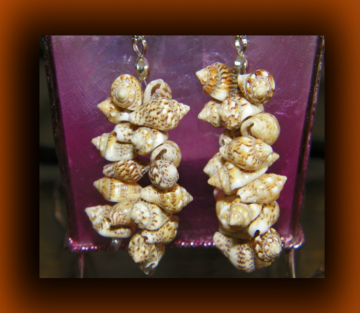 Leopard Print Dangling Shell Earrings
