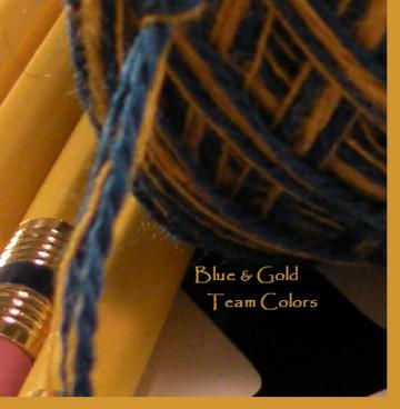 Blue and Gold Team Colors yarn by Life's an Expedition