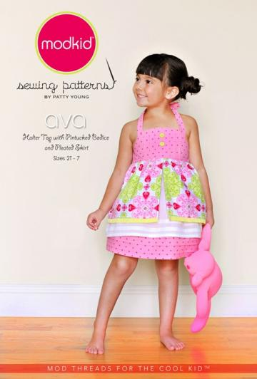 Modkid Boutique Ava Halter top and Skirt sewing pattern by Patty Young