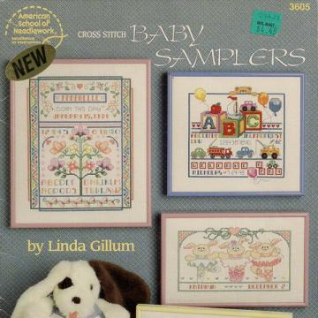 Cross Stitch Baby Samplers Booklet