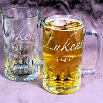 2 Personalized Groomsmen Beer Mugs