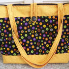 Bright Circles Tote Beach Bag