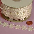 3/4 Flower Charm Ribbon - White