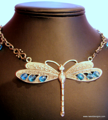 Dragon Fly Dreams Necklace by Body & Soul Products on Zibbet