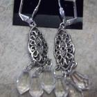 Handmade Clear Filagree Dangle Earrings
