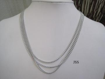 Handmade Silver 3 Strand Tiered Necklace