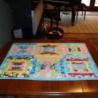 Spring Flowers, Quilted ,table runner