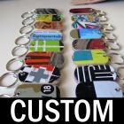 Recycled Skateboard Dog Tag Keychains