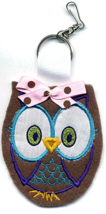 Felt Owl Zipper Pull Keychain