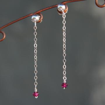 Garnet Dangle Earrings