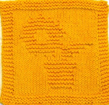 Knitting Cloth Pattern -  SUNFLOWER - PDF