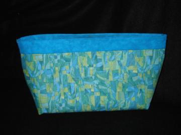 Turquoise Tonal Fabric Clutch