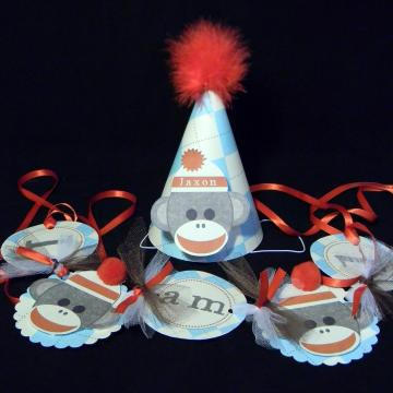 1st Birthday Party Set Highchair banner and party hat