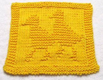 Knitting Cloth Pattern -  BABY DUCKS - PDF