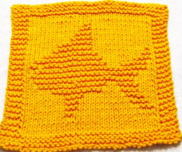 Knitting Cloth Pattern -  FISH - PDF