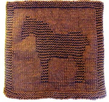 Knitting Cloth Pattern  - WORK HORSE - PDF