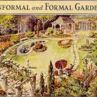 1935 Botanical Lithograph ~ Informal and Formal Gardens