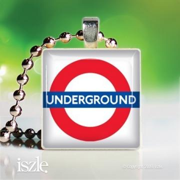 The Tube (PW100) – Scrabble Game Tile Art Pendant, can be personalized - handmade by iszle