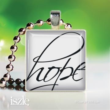 HOPE (PW089) – Scrabble Game Tile Art Pendant, can be personalized - handmade by iszle