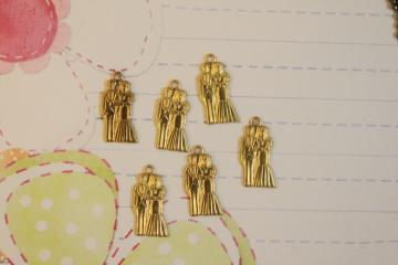 Bride & Groom Charms 12pcs/lot