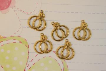 Double Ring Charms 12pcs/lot