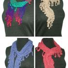 PDF Crochet Pattern -The Lattice Scarf with Berries