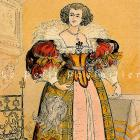 1892 French Fashion Pochoir Print ~ Court Couture of King Louis XIII
