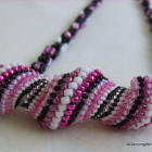 Handmade Pink and Black Necklace Set