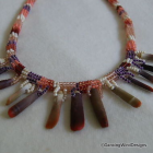 Cigar Shell Handmade Seed Bead Necklace Set
