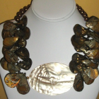 Big Chunky MOP Shell Necklace