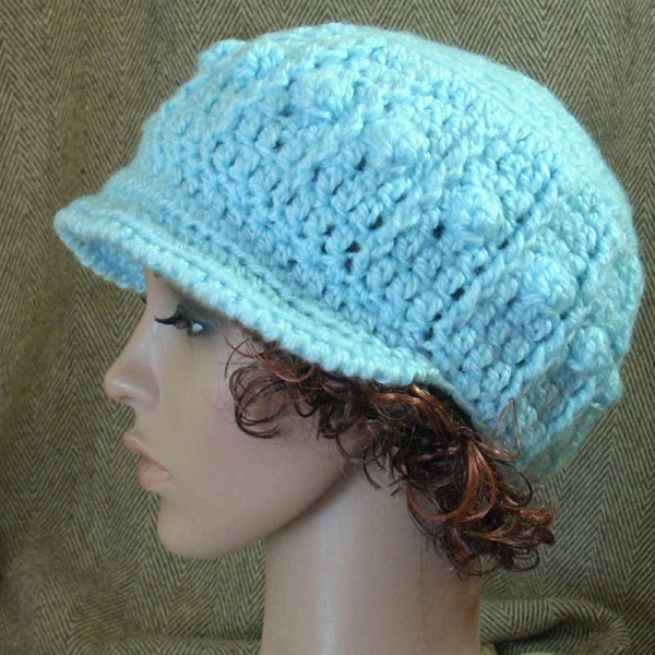 Crochet Patterns Chunky Yarn : PDF Pattern Crochet Popcorn Hat, chunky yarn no 35