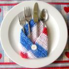Crochet Envelopes in Red,White & Blue