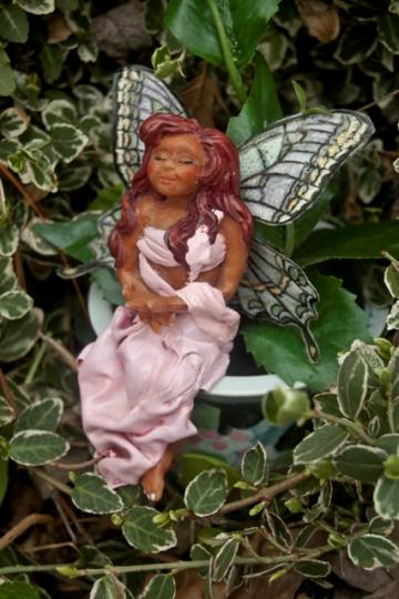 Ceramic Pot and Resting Fairy