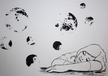 Daydream I; lithograph by Art and Stuff by Nicole
