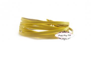 10 LEMON Satin Lined Metal Headbands - NEW & IMPROVED Add Hair Flowers, Embellishements, Bows, Feathers, Lace...WHATEVER
