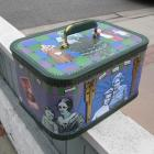 Upcycled Train Case, Women and Children, Blue/Purple/Green