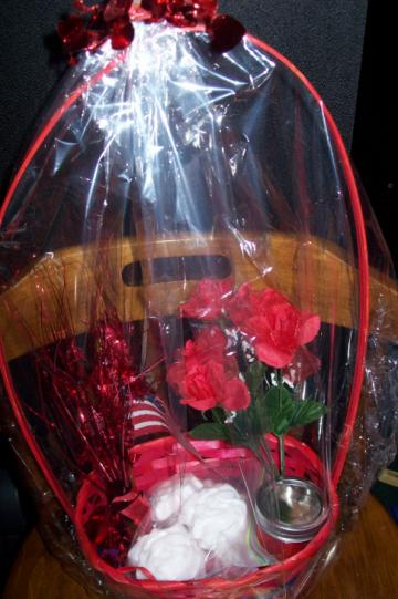 Red Basket With Goodies