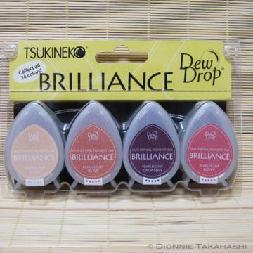 Tsukineko Brilliance Dew Drop Ink Pads - Set of 4 - Painters Palette